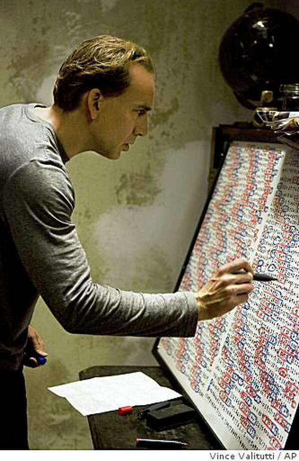 "In this film publicity image released by Summit Entertainment, Nicolas Cage is shown in a scene from ""Knowing."" Photo: Vince Valitutti, AP"