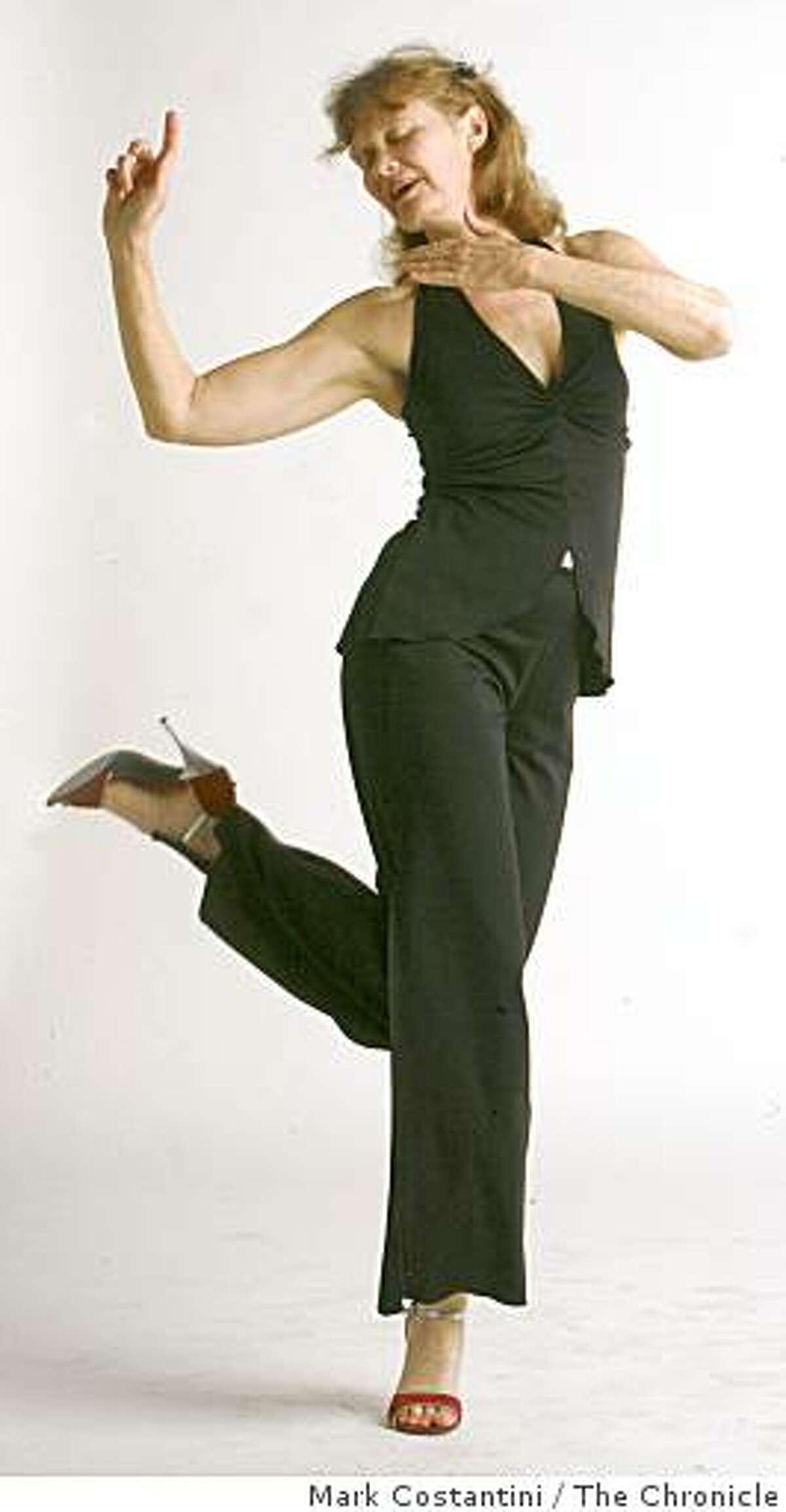Tango Dancer Lela Carney, 60, demonstrates her technique in San Francisco, Calif.