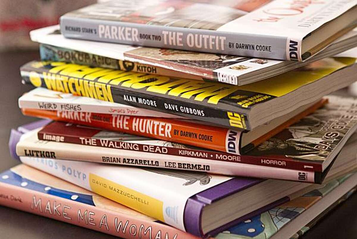 A selection of comic books are seen at Isotope, a Hayes Valley comic book store, in San Francisco, Calif., on Tuesday, October 26, 2010.