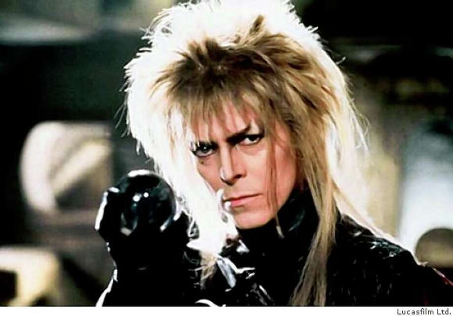 "David Bowie plays the Goblin King in the 1986 film ""Labyrinth."" Photo: Lucasfilm Ltd."