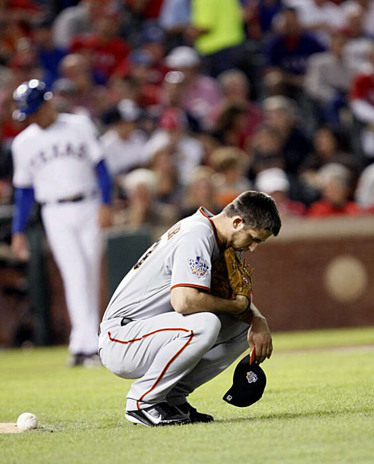 San Francisco Giants starting pitcher Madison Bumgarner takes a moment behind the mound prior to pitching in the first inning of Game 4 of the World Series on Sunday. Photo: Lance Iversen, San Francisco Chronicle
