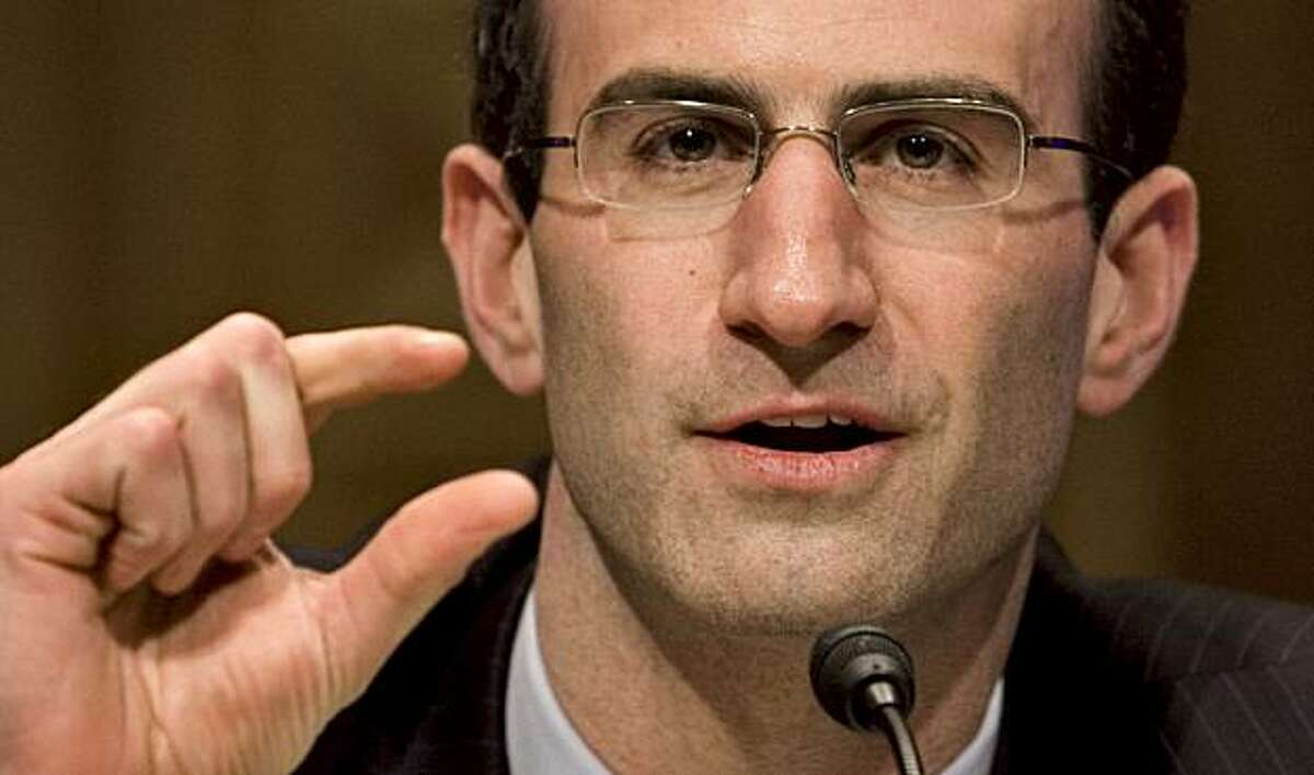 Peter Orszag, director of the White House Office of Management and Budget, appears before the Senate Budget Committee to defend President Barack Obama's federal spending plan for FY2010, on Capitol Hill in Washington, Tuesday, March 10, 2009.