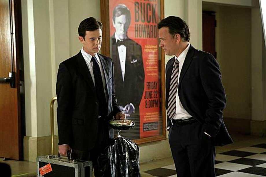 """In this film publicity image released by Magnolia Pictures, Colin Hanks, left, and Tom Hanks are shown in a scene from, """"The Great Buck Howard."""" Photo: AP"""