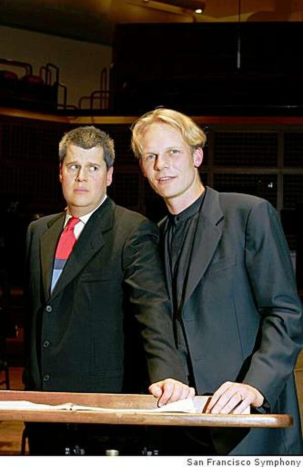 Lemony Snicket and Nathaniel Stookey Photo: San Francisco Symphony