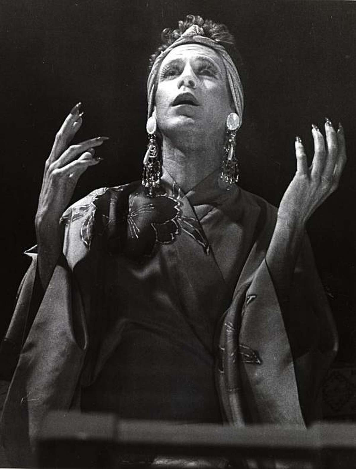 Prior Walter (Stephen Spinella) is ready for his close-up in the world premiere of Angels in America, Eureka Theatre Company, San Francisco, 1991.