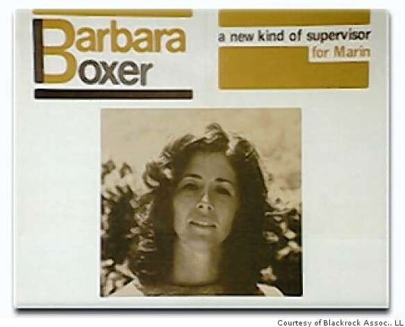 This is a 1972 campaign poster for Barbara Boxer. Photo: Courtesy Of Blackrock Assoc., LL