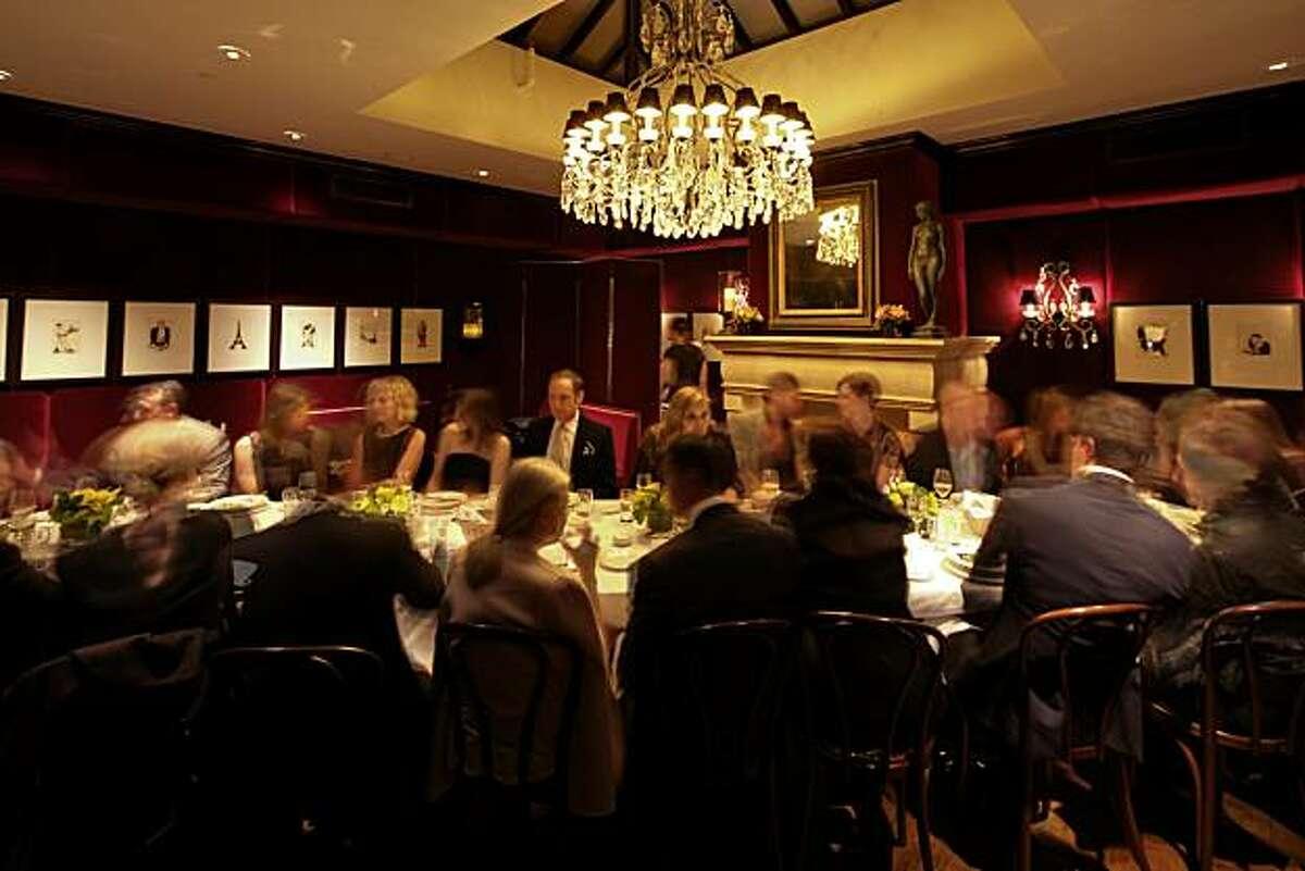 A post-signing dinner for Tatiana Sorokko at Cafe des Amis.