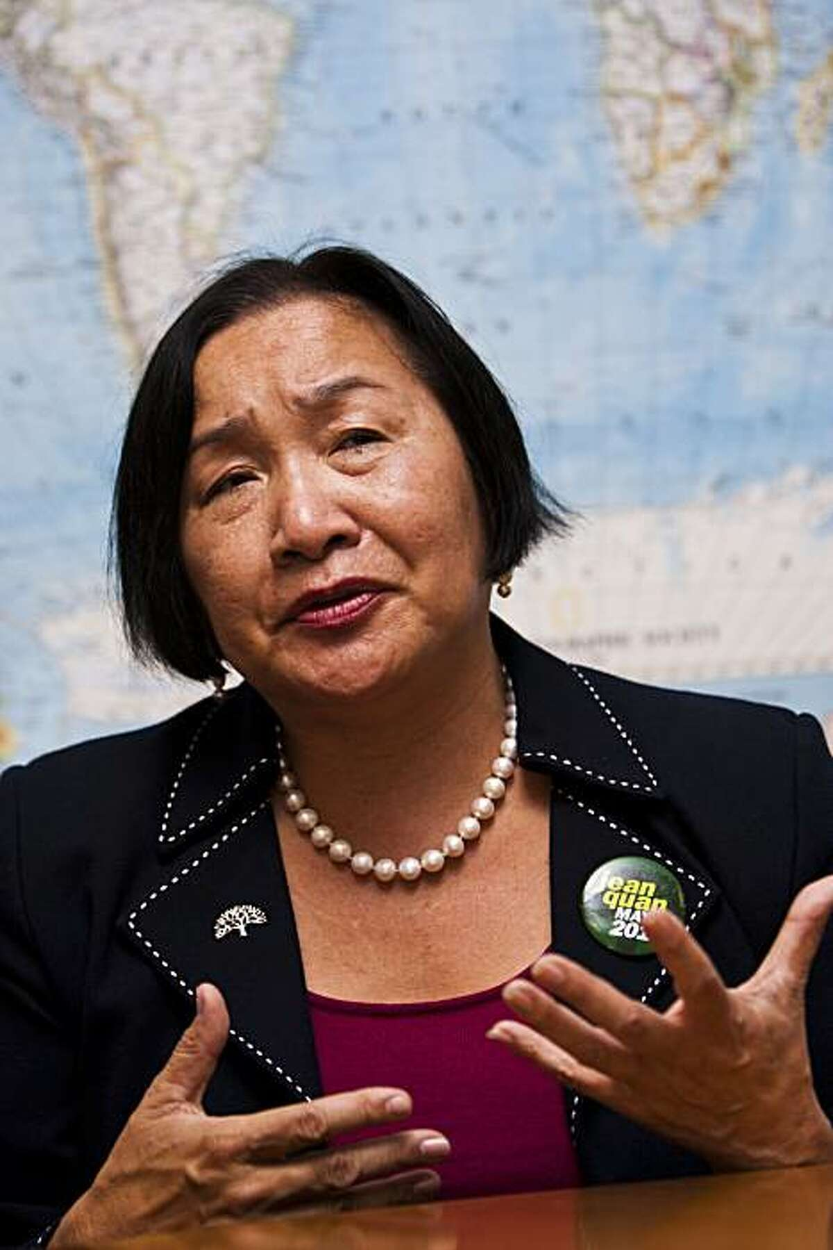 Jean Quan, candidate for mayor of Oakland, met with the San Francisco Chronicle Editorial Board on Wednesday, Oct 6, 2010.
