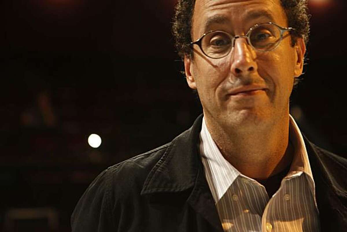 Playwright Tony Kushner stands for a portrait at Thrust Stage before the start of
