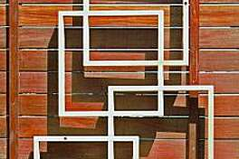 Free-form lattice used at fence trellis from LatticeStix in SF