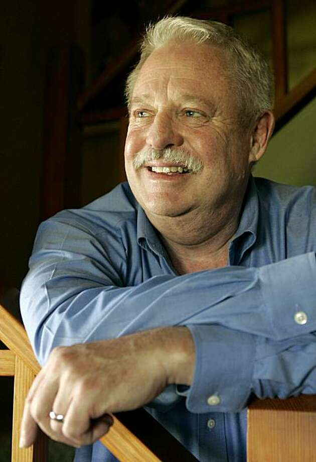 "Armistead Maupin is photographed at his home in San Francisco, in this June 11, 2007, file photo.  ""Tales of the City,"" based on the Armistead Maupin novel, will open on Broadway during the 2009-10 season, producers Robyn Goodman, Kevin McCollum and Jeffrey Seller announced Friday, March 14, 2008. Photo: Jeff Chiu, AP"