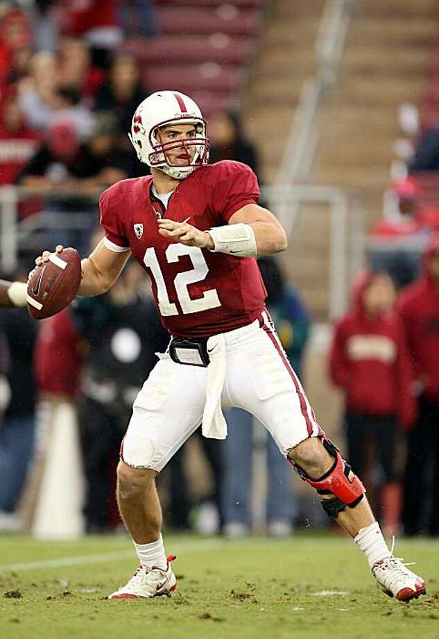 PALO ALTO, CA - OCTOBER 23:  Andrew Luck #12 of the Stanford Cardinal passes the ball against the Washington State Cougars at Stanford Stadium on October 23, 2010 in Palo Alto, California. Photo: Ezra Shaw, Getty Images