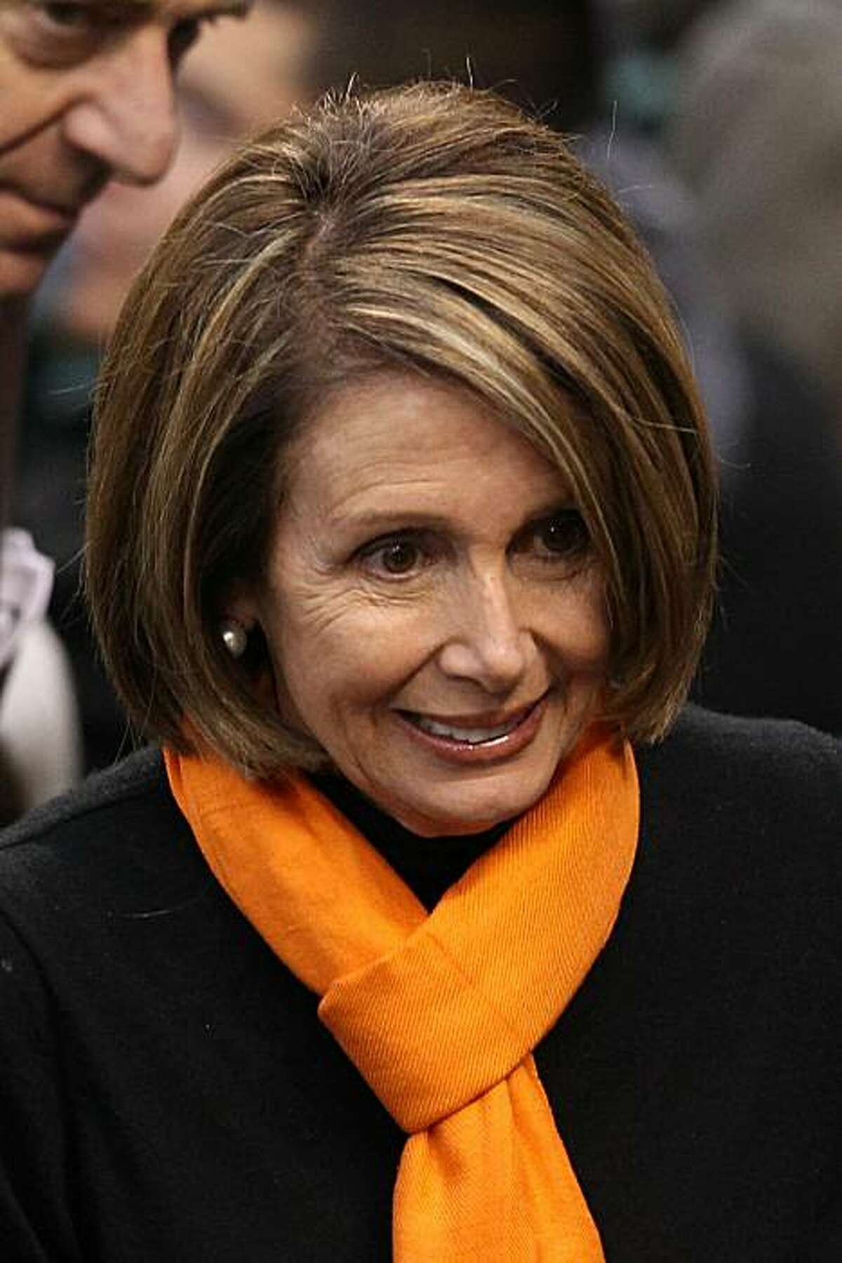 SAN FRANCISCO - OCTOBER 27: U.S. Speaker of the House Rep. Nancy Pelosi (D-CA) attends Game One of the 2010 MLB World Series at AT&T Park on October 27, 2010 in San Francisco, California.