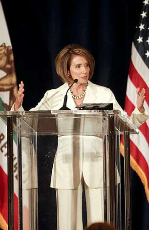 Speaker of the House Nancy Pelosi attends a Democratic congressional campaign committee-sponsored fundraising dinner in San Francisco on October 25, 2010. Photo: Ryan Anson, AFP/Getty Images