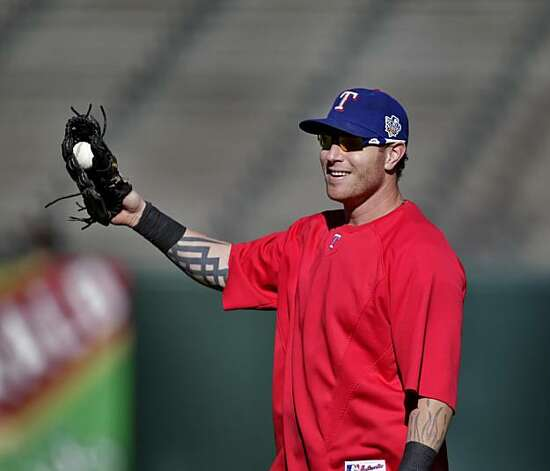 The Texas Rangers outfielder Josh Hamilton warms up during practice, in preparation of the Game 1 of the World Series, Tuesday Oct. 26, 2010, at AT&T Park, in San Francisco, Calif. Photo: Lacy Atkins, The Chronicle