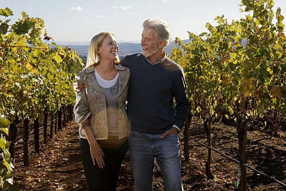 Tim Mondavi and his daughter, Carissa, stand in the vineyards of their Continuum Estates Tuesday, October 26, 2010, San Francisco, Calif.  Tim Mondavi, son of Robert Mondavi, has a new wine project, Continuum Estate, which he sees as a way of carrying on the family legacy. Photo: Adm Golub, The Chronicle