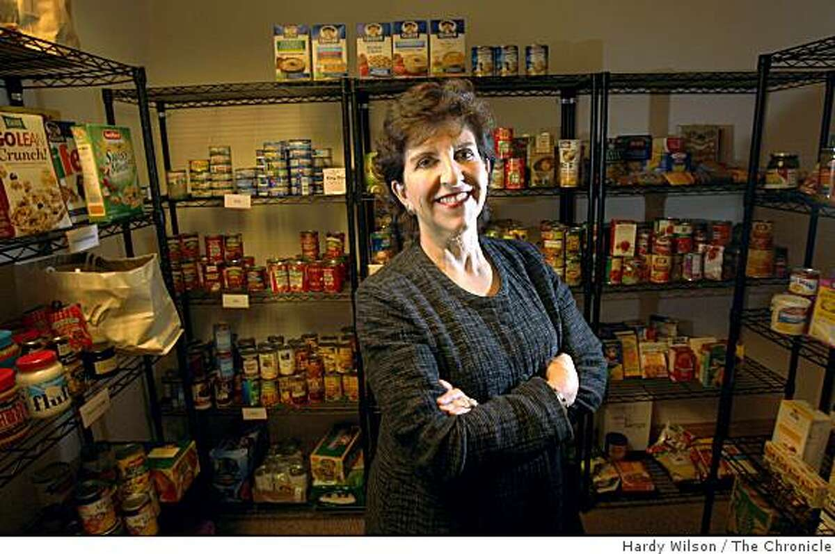 Dr. Anita Friedman, Executive Director for the Jewish Family and Children's Services, or JFCS, poses for a picture inside the food pantry of the JFCS in San Francisco, Calif., on Tuesday, March 3, 2009. Friedman will be accepting the Distinguished Humanitarian Award for her thirty years of service to the JFCS and the Bay Area community.