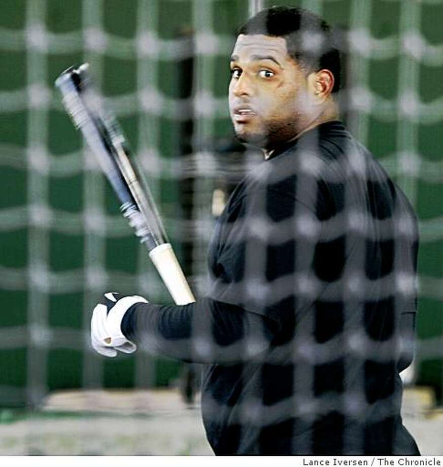 San Francisco Giants Pablo Sandoval takes batting practice during Spring Training workouts at Scottsdale Stadium Tuesday February 17, 2009 in Scottsdale Arizona Photo: Lance Iversen, The Chronicle