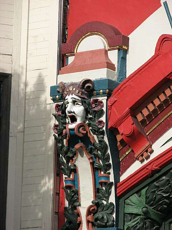 It began life as a movie theater and now serves as a punkish fashion store; either way, the art nouveau flavored storefront at 1660 Haight Street is a colorful addition to the local landscape Photo: John King