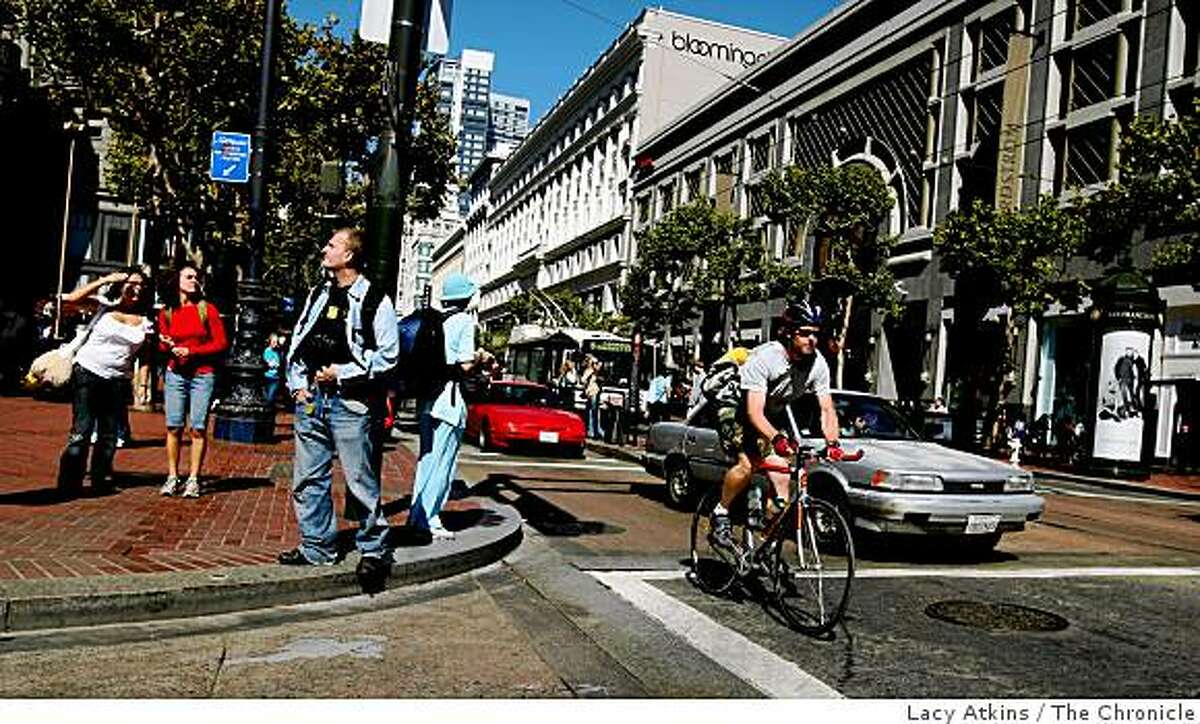 The intersection at Fifth and Market in San Francisco is one of the Bay Area's robbery hotspots. 36 robberies have taken place at this intersection from 2007 through the first half of 2008.