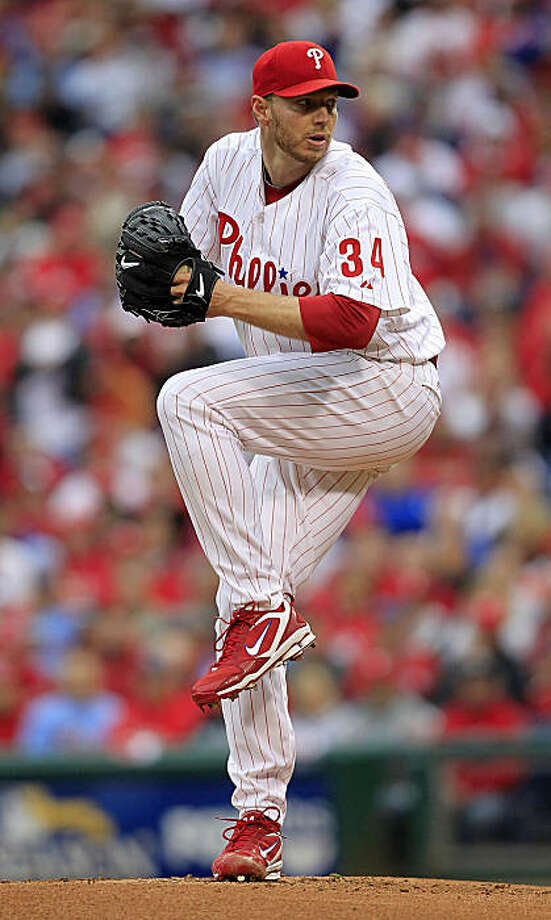 PHILADELPHIA - OCTOBER 06:  Roy Halladay #34 of the Philadelphia Phillies delivers in Game 1 of the NLDS against the Cincinnati Reds at Citizens Bank Park on October 6, 2010 in Philadelphia, Pennsylvania.  (Photo by Chris Trotman/Getty Images) *** Local Caption *** Roy Halladay Photo: Chris Trotman, Getty Images