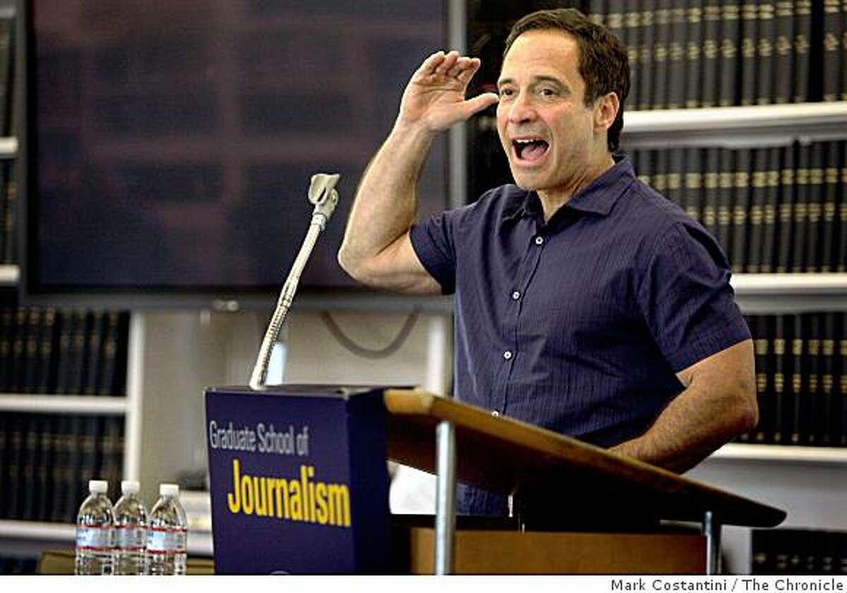 Harvey Levin of the website TMZ speaks to journalism students at U.C. Berkeley in Berkeley, Calif. on Wednesday, March 11, 2009.
