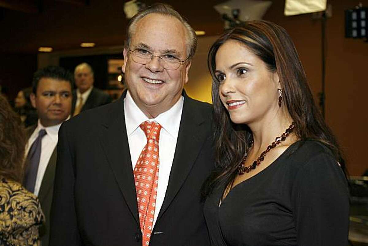 Bill Lockyer arrives with his wife Nadia. Leading Democrats, including Dianne Feinstein, Jerry Brown, Barbara Boxer and Bill Lockyer attend a Democratic Party election night rally at Delancey St. Restaurant, Town Hall Rm., 600 Embarcadero, San Francisco. on Nov. 7, 2006.
