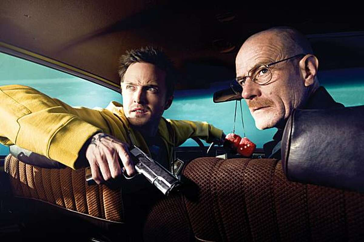 Jesse Pinkman (Aaron Paul) and Walt White (Bryan Cranston) in AMC's