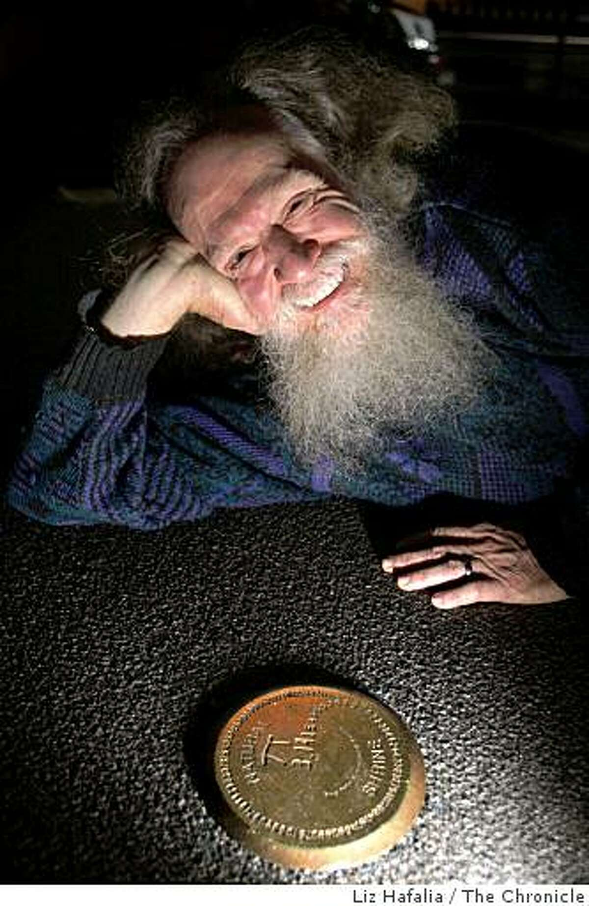 San Francisco physicist Larry Shaw is the co-founder of PiDay, an international celebration in its 21st year, of the mathematical formula that falls on 3.14. He is by the emblem in honor of PiDay at the Exploratorium in San Francisco Calif., on Monday, March 9, 2009.