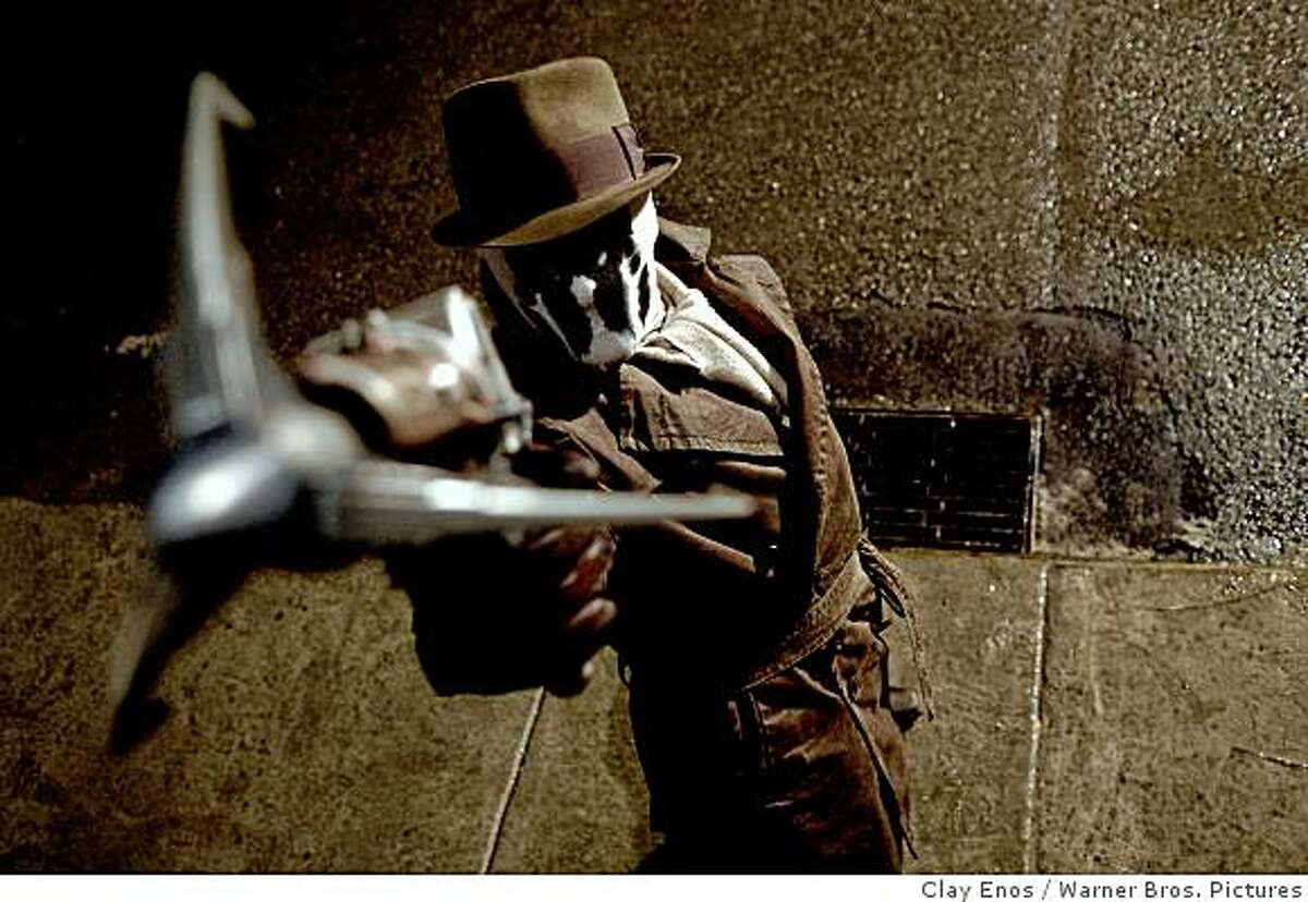 """JACKIE EARLE HALEY as Rorschach in Warner Bros. Pictures', Paramount Pictures' and Legendary Pictures' action adventure """"Watchmen."""""""