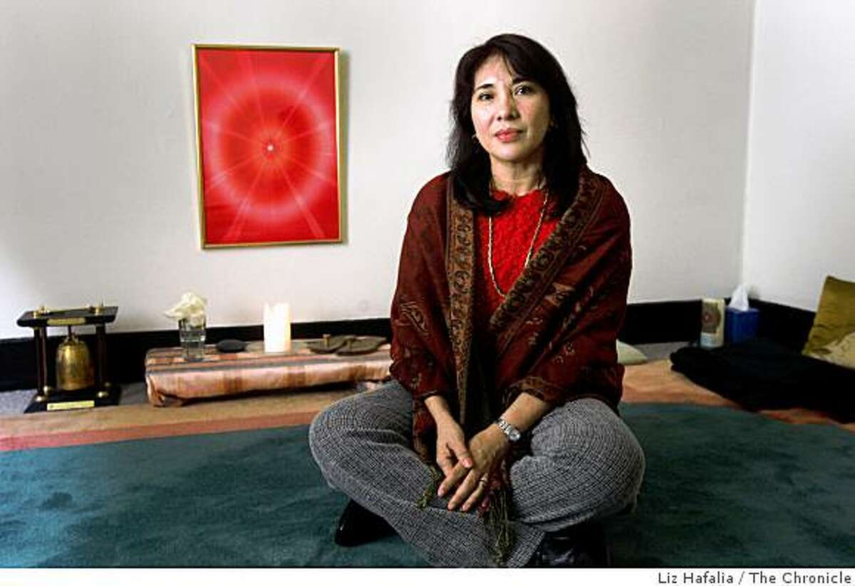 Marites Africa is a religious-rights activist from the Philippines at the United Religions Initiative meditation room in the Presidio in San Francisco, Calif., on Monday, March 2, 2009.