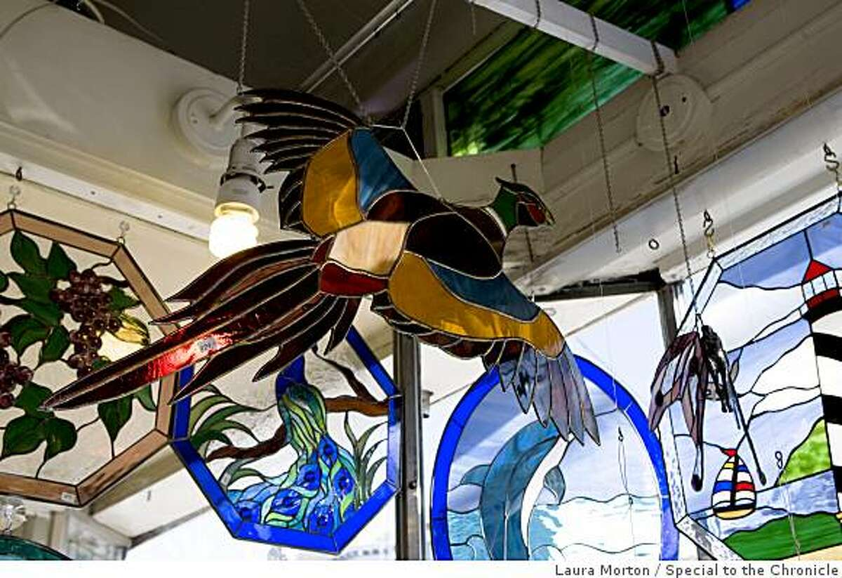At Cradle of the Sun, located at 3848 24th St., shoppers can find a wide assortment of glass pieces for sale in San Francisco, Calif., on Thursday, February 26, 2009.