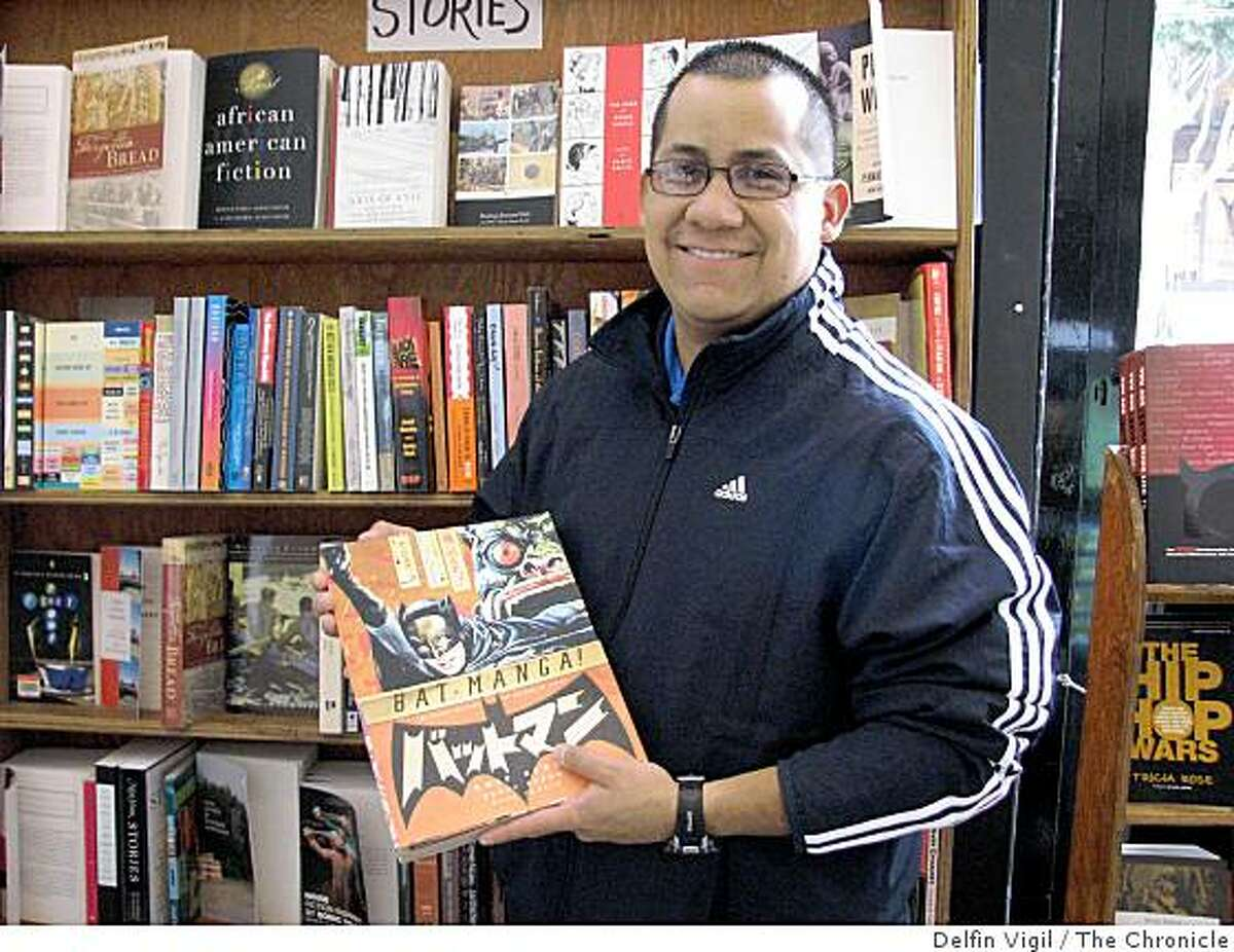 Manuel De La Rosa, of Los Angeles. featured in our People Meter at City Lights Bookstore