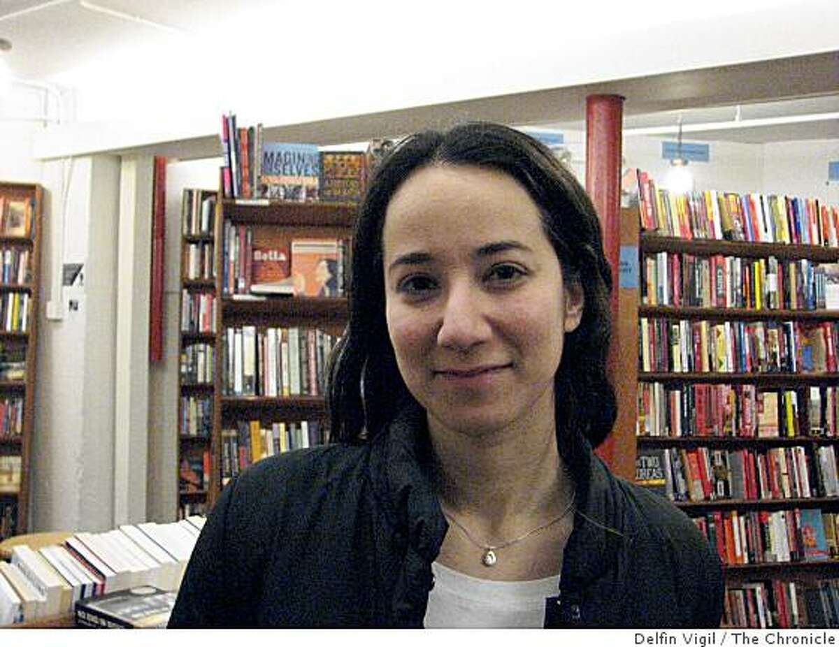 Daniellle Marx, of Israel. featured in our People Meter at City Lights Bookstore