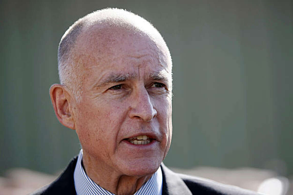 California attorney general and democratic gubernatorial candidate Jerry Brown speaks at a news conference at PetersenDean Roofing and Solar Systems in Newark, Calif., Thursday, Sept. 23, 2010.