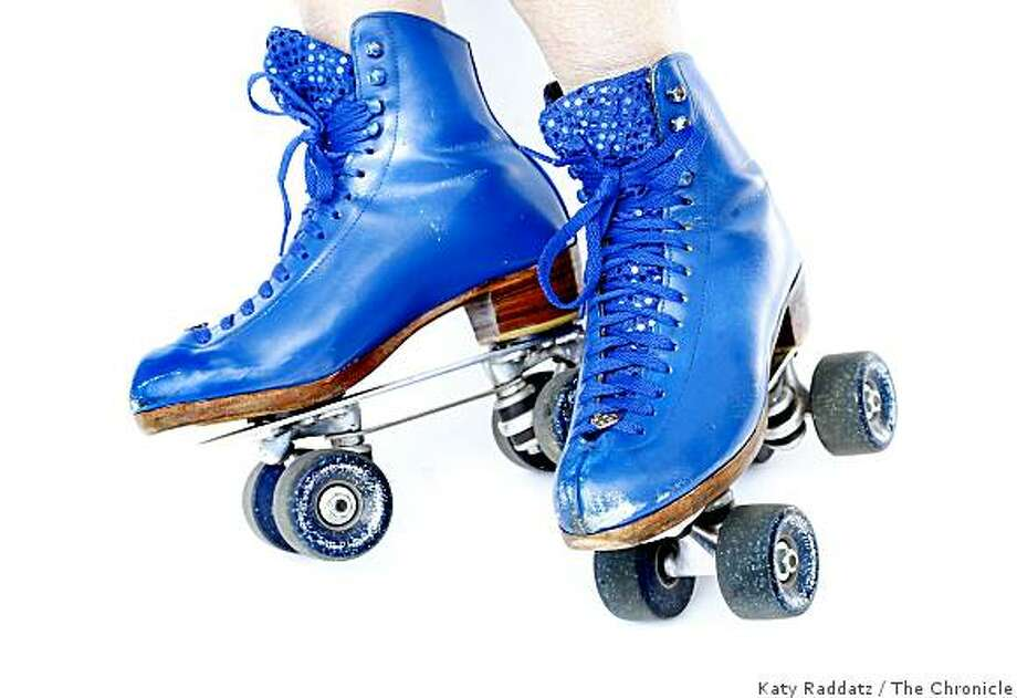 Laura Sunday comes to San Francisco's Golden Gate Park nearly every Sunday to roller skate in her bright blue skates, in San Francisco, Calif.  on Sunday May 25, 2008. Katy Raddatz / The San Francisco Chronicle Photo: Katy Raddatz, The Chronicle
