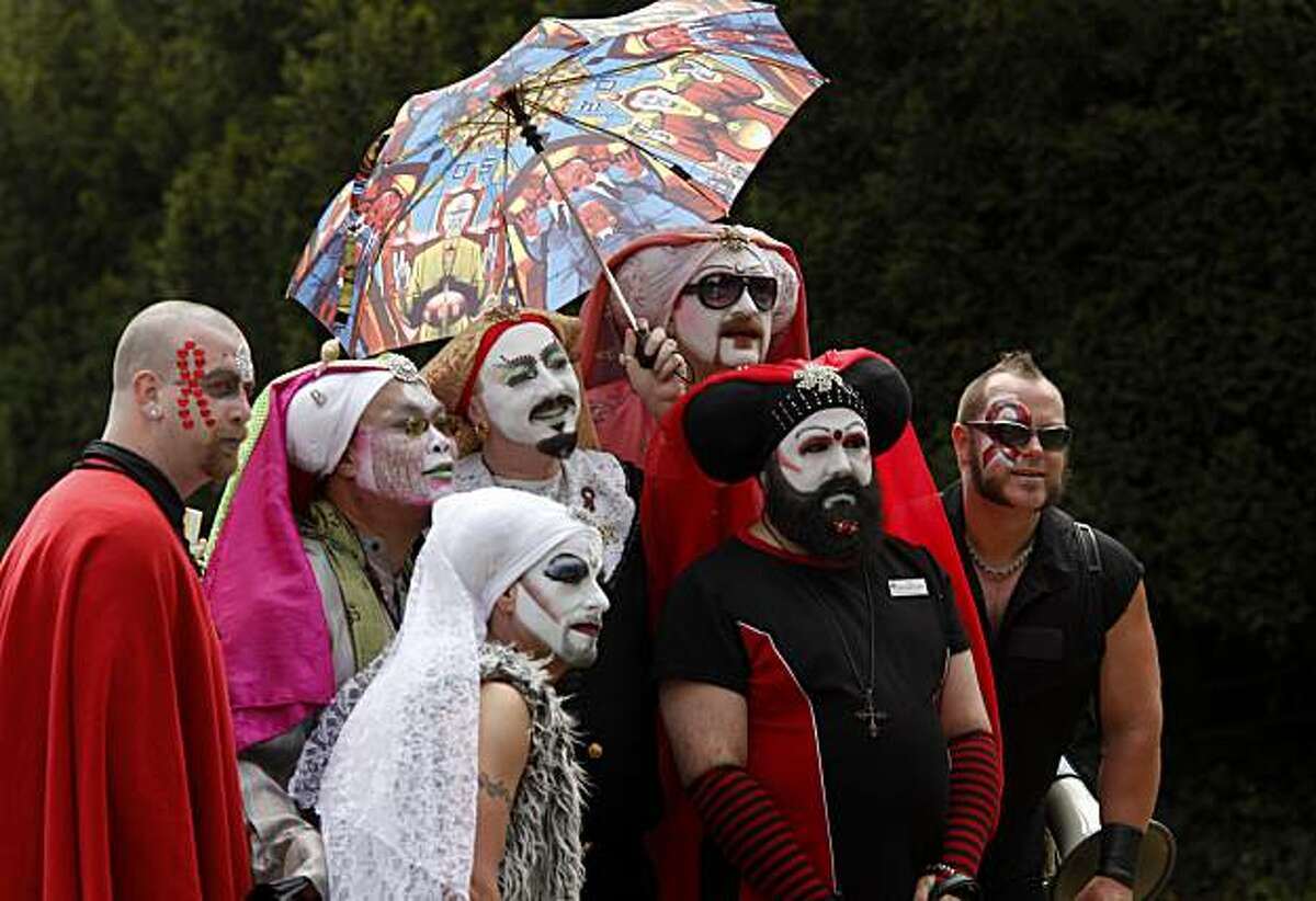 Members of the Sisters of Perpetual Indulgence were a popular photo op for the crowd. The 24th annual AIDS walk attracted thousands to Golden Gate Park in San Francisco on Sunday.
