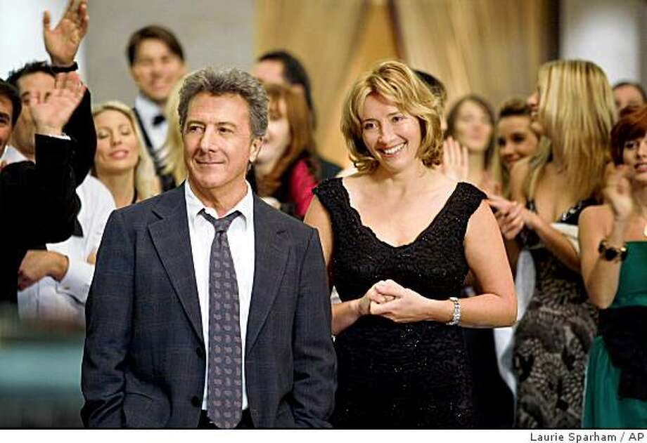 "In this image released by Overture Films, Dustin Hoffman and Emma Thompson are shown in a scene from ""Last Chance Harvey."" Photo: Laurie Sparham, AP"