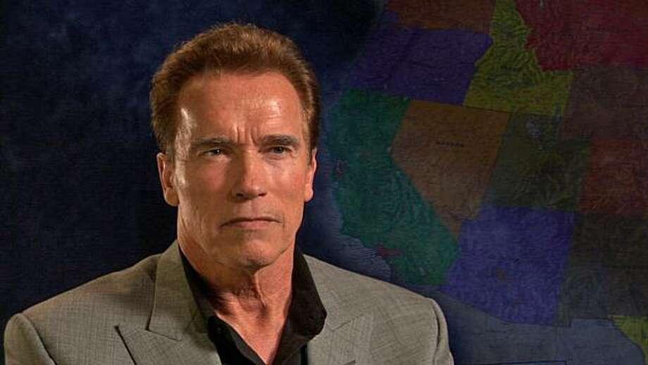 "California governor Arnold Schwarzenegger appears in a scene in, ""Gerrymandering."" Photo: Courtesy Of Green Company Film"