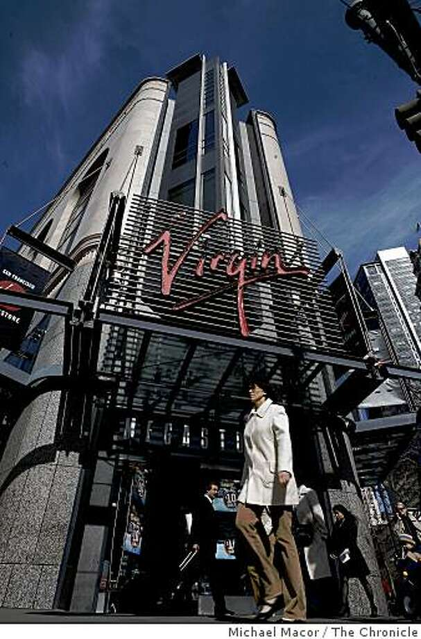 The Virgin Megastore on Market Street in San Francisco, Calif., on Wednesday Feb. 25, 2009. The company has announced plans to close the store. Photo: Michael Macor, The Chronicle