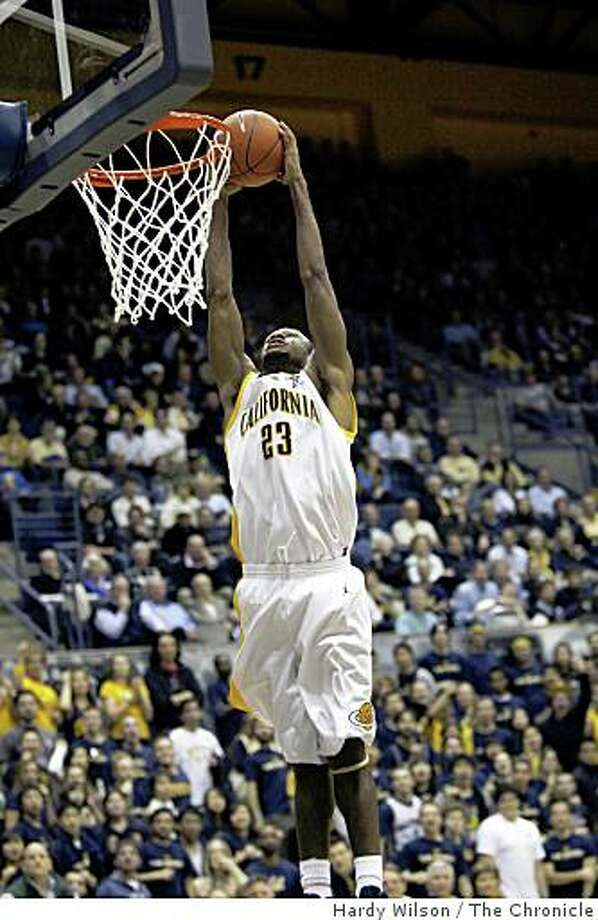 Cal Bears guard Patrick Christopher (23) goes up for a dunk against the USC Trojans on Thursday, February 26, 2009, at Haas Pavilion in Berkeley, Calif. Christopher had a game high 29 points and the Bears over the Trojans 81-78. Photo: Hardy Wilson, The Chronicle