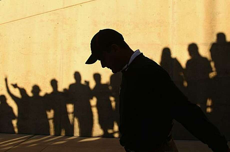 PALO ALTO, CA - OCTOBER 09:  Head coach Jim Harbaugh of the Stanford Cardinal walks out through the tunnel for their game against the USC Trojans at Stanford Stadium on October 9, 2010 in Palo Alto, California. Photo: Ezra Shaw, Getty Images