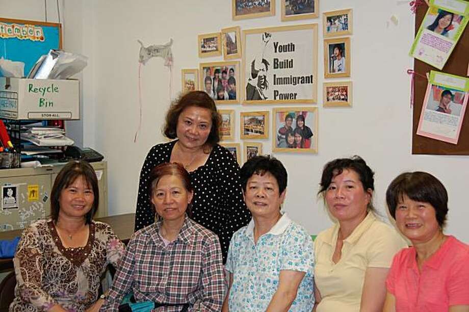 seated (left to right) -- Sherry, Lisa, Nancy Lee, Yu Ping Li, Chi Mei Yeung; standing, Bing Liu. photo goes with story by Brenda Payton for Oct. 17 issue of Insight, page 3 Photo: Brenda Payton