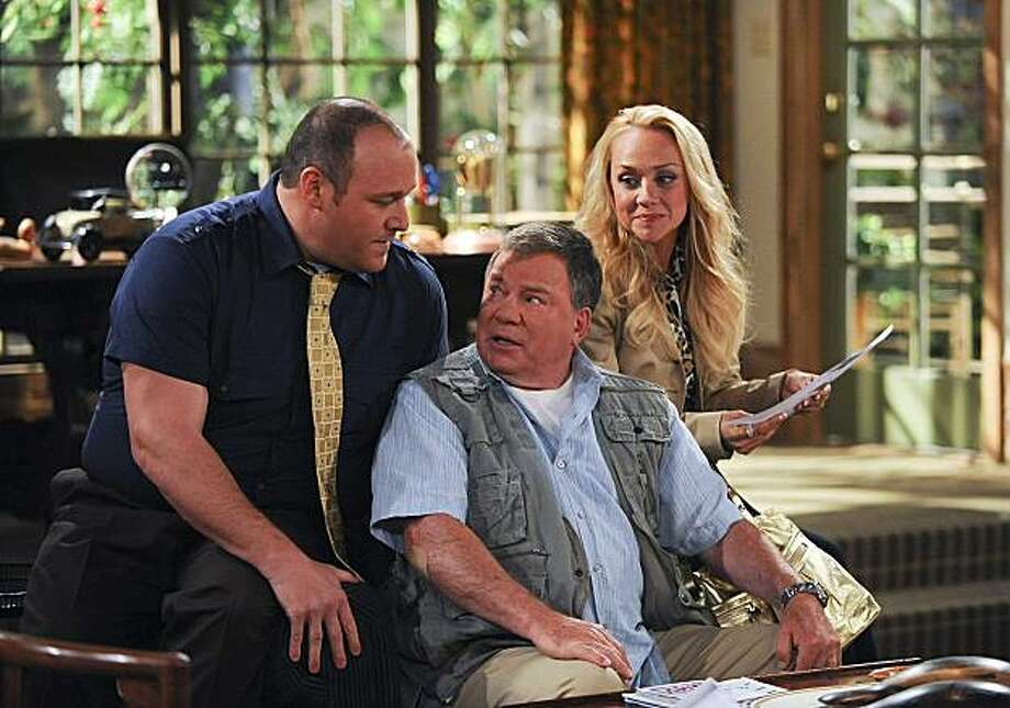 $#*! MY DAD SAYS, based on the popular Twitter site by Justin Halpern, stars William Shatner (center) as Ed Goodson, a forthright and opinionated dad who relishes expressing his unsolicited and often wildly politically incorrect observations to anyone within earshot. Will Sasso stars as Vince, left, and Nicole Sullivan stars as Kathleen. Photo: Ron P. Jaffe, CBS