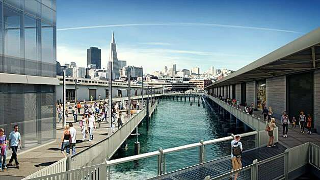 The new Exploratorium on the Bay will include the restoration of Pier 15 and the addition of a two-story observatory building as well as two acres of public space along the water. A parking lot in between piers 15 and 17 will be removed, exposing more ofthe bay.  The architect for the project is EHDD Photo: Courtesy Of ZUM, Exploratorium