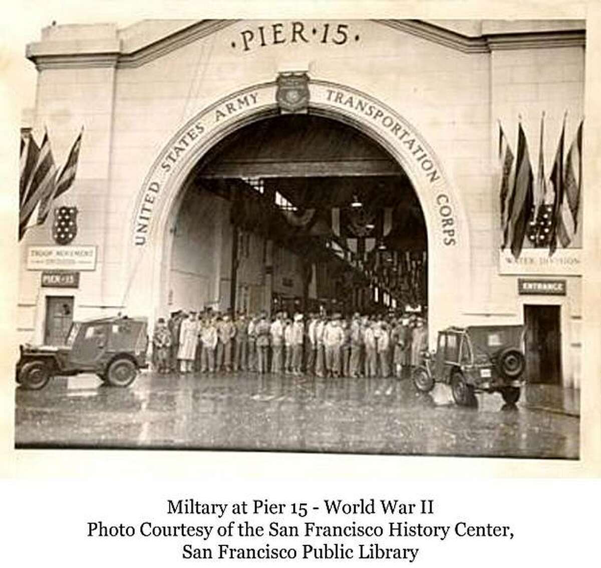 Piers 15 was used by the military during World War II. Now it will be home to the Exploratorium, which is moving east from the Palace of Fine Arts in a $300 million expansion project.