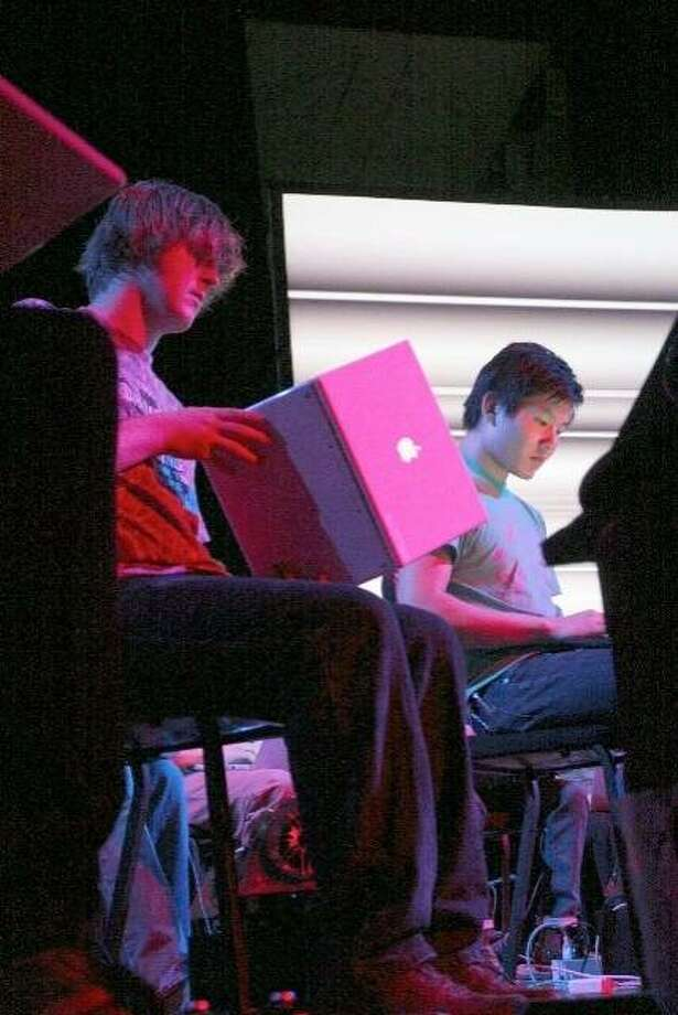 """Autopoetics I"" performed by Princeton Laptop Orchestra, 2009 Photo: Lorene Lavora"