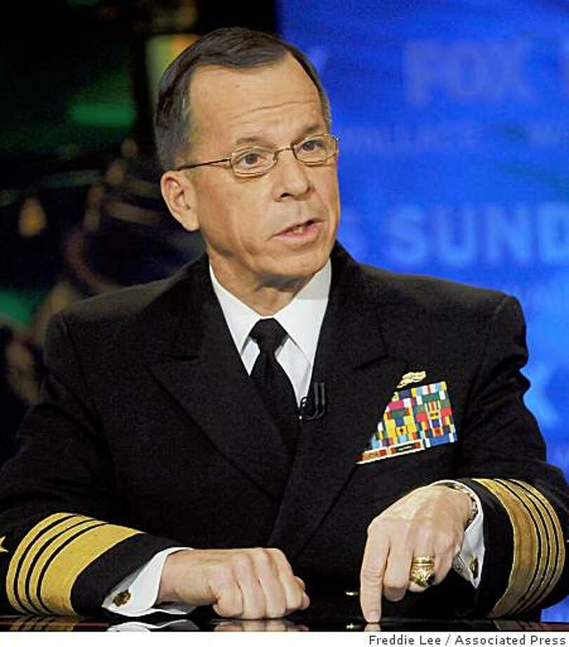 "In this photo provided by FOX News, Adm. Michael Mullen, chairman of the Joint Chiefs of Staff, appears on ""Fox News Sunday""  in Washington, Sunday, March 1, 2009. Photo: Freddie Lee, Associated Press"