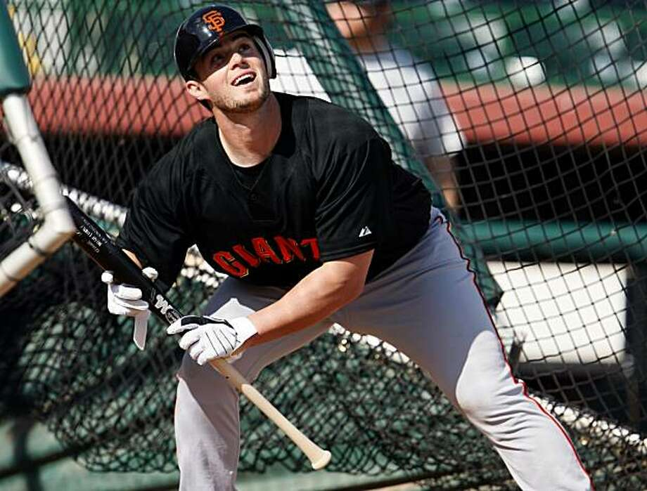 San Francisco Giants pitcher Noah Lowry pops up a bunt during Spring Training workouts at Scottsdale Stadium Tuesday February 17, 2009 in Scottsdale Arizona Photo: Lance Iversen, The Chronicle