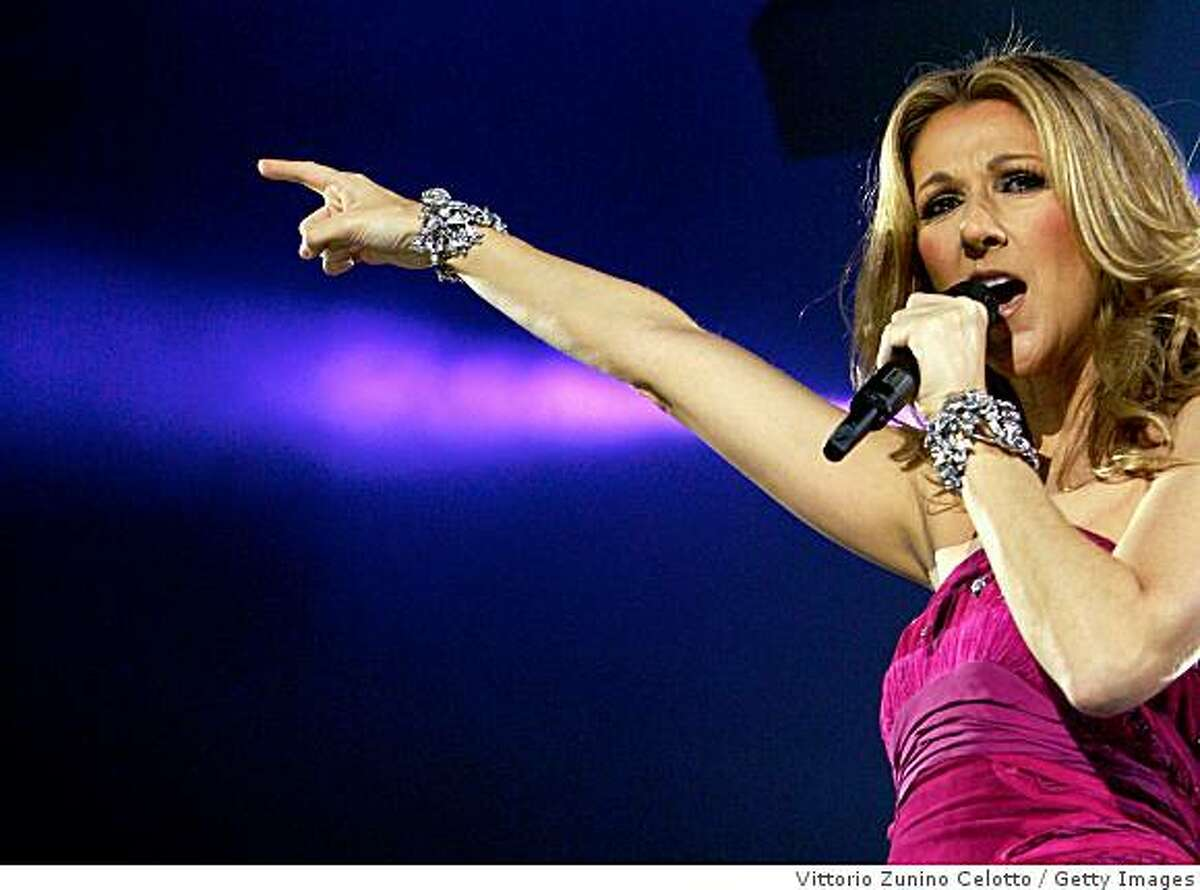 MILAN, ITALY - JULY 03: Singer Celine Dion performs at DatchForum on July 3, 2008 in Milan, Italy.